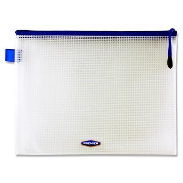Premier Office B5 Extra Durable Mesh Wallet - Transparent White
