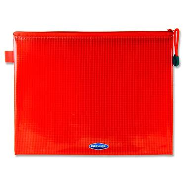 Premier Office B5 Extra Durable Mesh Wallet - Ketchup Red