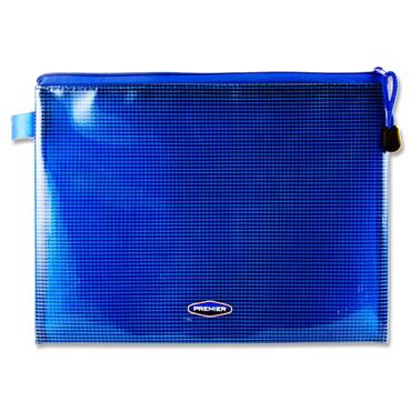 Premier Office B5 Extra Durable Mesh Wallet - Printers Blue