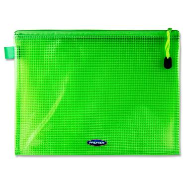 Premier Office B5 Extra Durable Mesh Wallet - Green