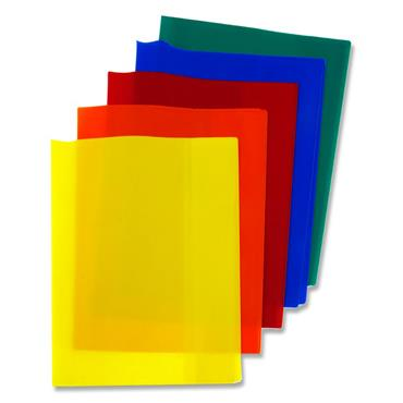 Student Solutions Pkt.5 Pvc Heavy Duty Copy Book Covers - 5 Asst Solid Colours
