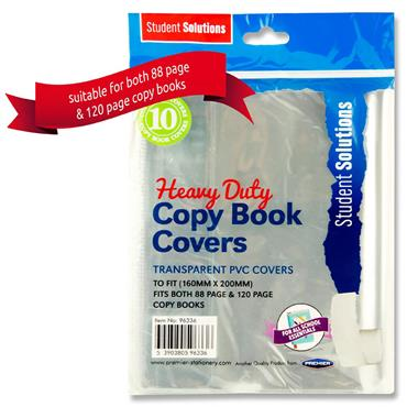 Student Solutions Pkt.10 Pvc Heavy Duty Copy Book Covers