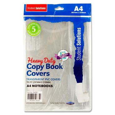 Student Solutions Pkt.5 A4 Pvc Heavy Duty Copy Book Covers