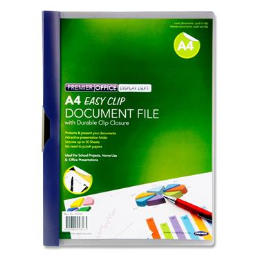 Premier Office A4 Easy Clip Document File