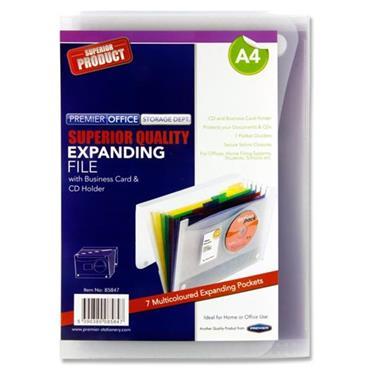 Premier Office A4 7 Pocket Expanding File