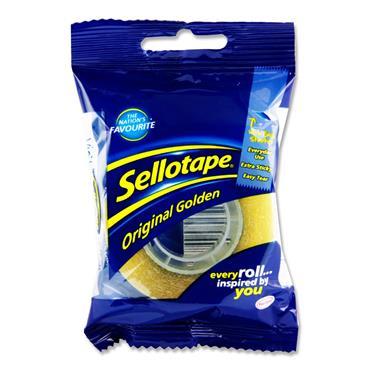 Sellotape 18mmx33m Original Golden Tape (bag)