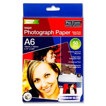 PRO:FORM PKT.50 SHEETS A6 PHOTO INKJET PAPER