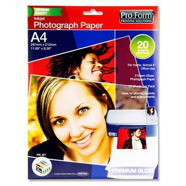 PRO:FORM PKT.20 SHEETS A4 PHOTO INKJET PAPER