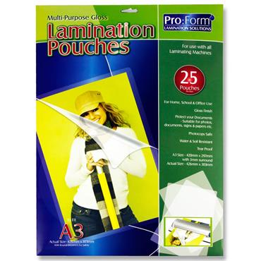 Pro:form A3 Pack 25 Laminating Pouches