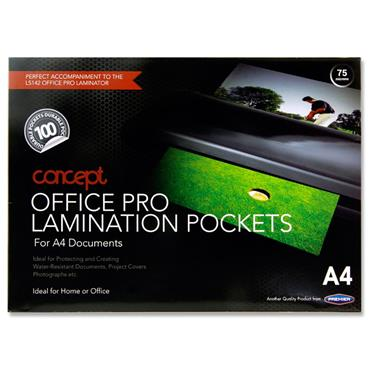 Concept Pkt.100 A4 Office Pro Laminating Pouches
