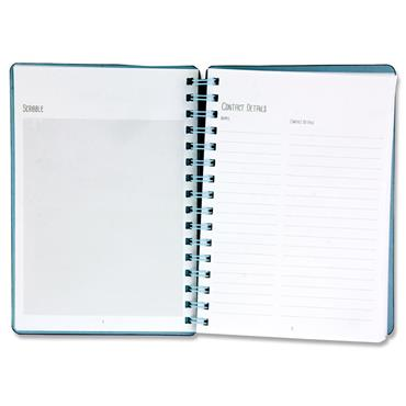 I LOVE STATIONERY A5 160pg WIRO OPEN AGENDA DIARY 2 ASST.
