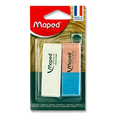 MAPED CARD 1 WHITE + 1 DUO GOM ERASERS LARGE
