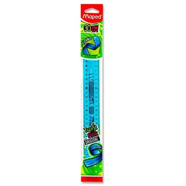 MAPED TWIST'N FLEX 30cm RULER 3 ASST CDU