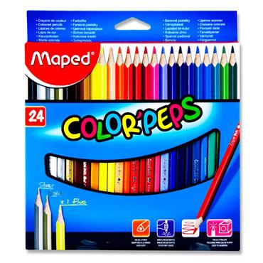 Maped Pkt.24 Color'peps Triangular Colouring Pencils