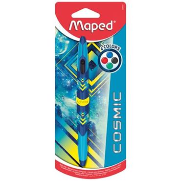MAPED TWIN TIP 4 COLOUR BALLPOINT PEN - COSMIC BLUE