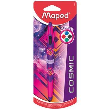 MAPED TWIN TIP 4 COLOUR BALLPOINT PEN - COSMIC PINK