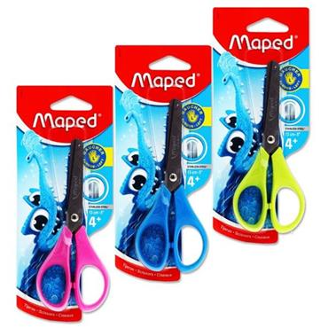 "MAPED ESSENTIALS 13cm/5"" SOFT GRIP SCISSORS - LEFT HANDED 3 ASST."