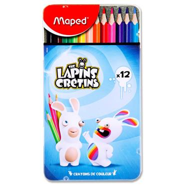 Maped The Lapins Cretins Tin 12 Color'peps Colouring Pencils