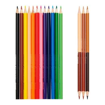 MAPED COLOR'PEPS PKT.12 COLOURING PENCILS & 3 DUO SKIN TONES