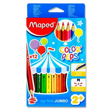 Maped Box 12 Color'peps Maxi Colouring Pencils