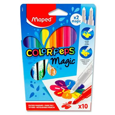 Maped Color'peps Box 10 Magic Colour Changing Felt Tip