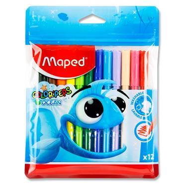 Maped Pkt.12 Colour'peps Felt Tip Markers - Ocean