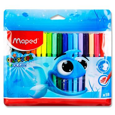 Maped Pkt.18 Colour'peps Felt Tip Markers - Ocean
