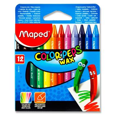 Maped Box 12 Color'peps Triangular Wax Crayons