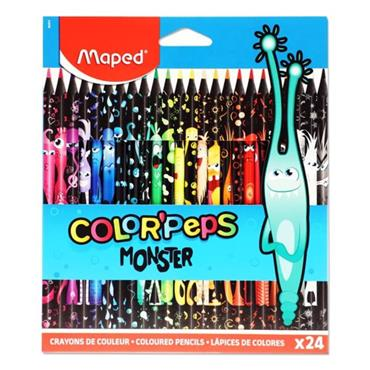 MAPED BOX 24 COLOR'PEPS COLOURING PENCILS - MONSTER