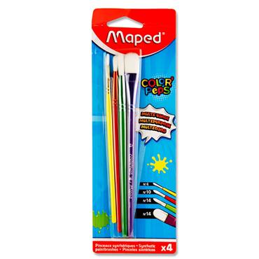 MAPED COLOR'PEPS CARD 4 SYNTHETIC PAINTBRUSHES