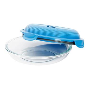 MAPED PICNIK CONCEPT ADULT GLASS LUNCH PLATE - STORM BLUE