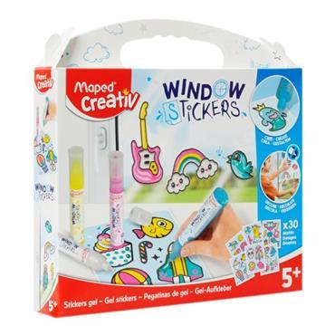 MAPED CREATIV COLOUR 'N STICK GEL WINDOW STICKERS