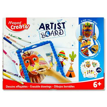 Maped Creativ Artist Board - Erasable Drawings Transparent Board