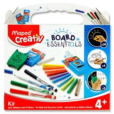 Maped Creativ Board Essentials - Black & Dry Erase Boards Kit