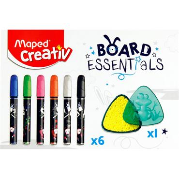 Maped Creativ Board Essentials - Erasable Multi-surface Marker Kit