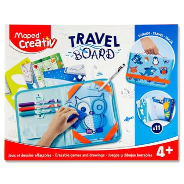 Maped Creativ Travel Board - Erasable Games & Drawings