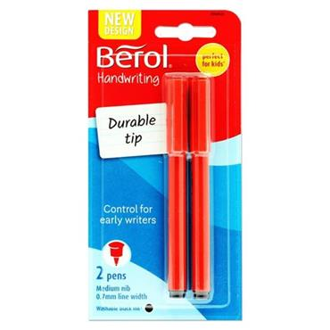 BEROL CARD 2 0.7mm HANDWRITING PENS - BLACK INK