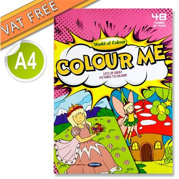 Woc A4 48pg Colouring Book - Girls
