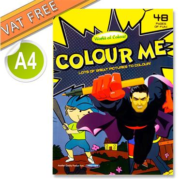 Woc A4 48pg Colouring Book - Boys