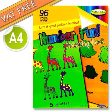 Woc A4 96pg Number Fun Perforated Colouring Book