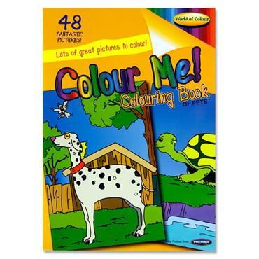 Woc A4 48pg Colouring Book - Pets