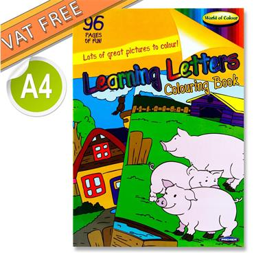 Woc A4 96pg Learning Letters Perforated Colouring Book