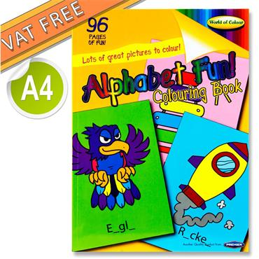 Woc A4 96pg Alphabet Fun Perforated Colouring Book