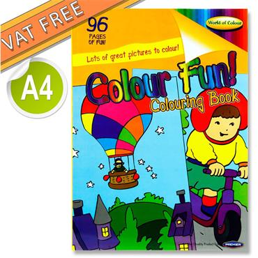 Woc A4 96pg Colour Fun Perforated Colouring Book
