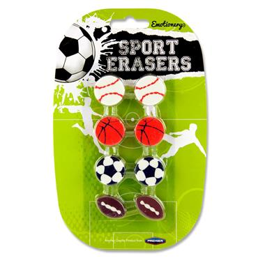Emotionery Card 8 Sport Erasers