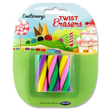 Emotionery Card 3 Twist Erasers