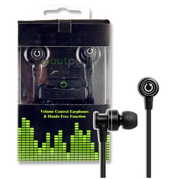 OUTPUT SERIES 3 EARPHONES - BLACK