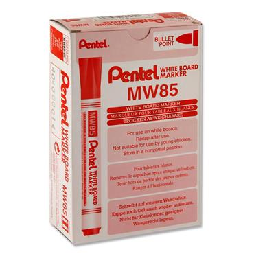 PENTEL MW85 WHITEBOARD MARKER BULLET POINT - RED