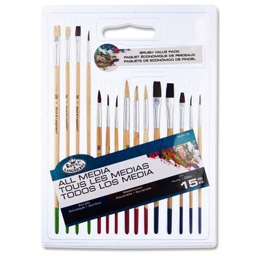 All Media 15pce Brush Value Pack