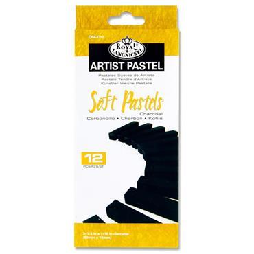 Artist Pastel Box 12 Soft Pastels - Charcoal